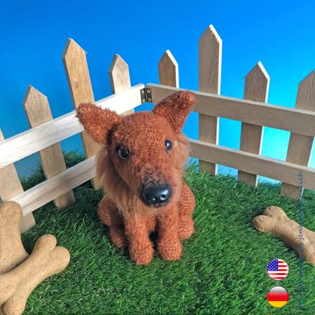 Crochet puppy , amigurumi dog , stuffed animal , toy dog for kids ... | 450x450