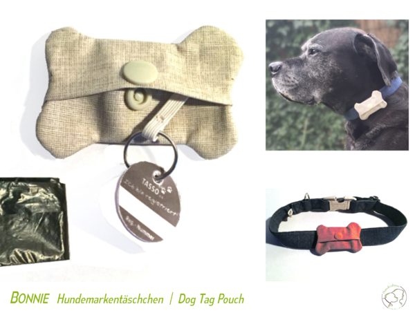 Bonnie Dog Tag and Poo Bag Pouch, sewing pattern