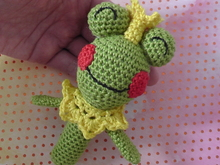 "crochet Pattern Baby Rattle Frog Prince ""Otto"""