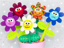 Funny bunch of flowers - crochet pattern