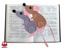 244 Crochet Pattern - Rat or Mouse Bookmark or decor - Amigurumi PDF file by Zabelina CP