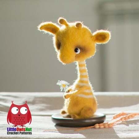 PATTERN: Cuddle-Sized Giraffe Amigurumi, Crocheted Giraffe Pattern ... | 450x450