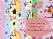 Seamless digital paper Bunny