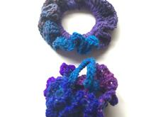 Crochet scrunchies, crochet pattern