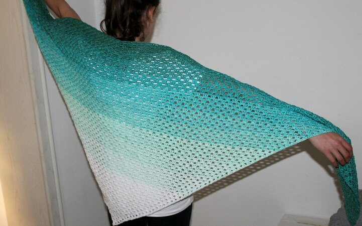 Clear Blue Sea scarf crochet pattern