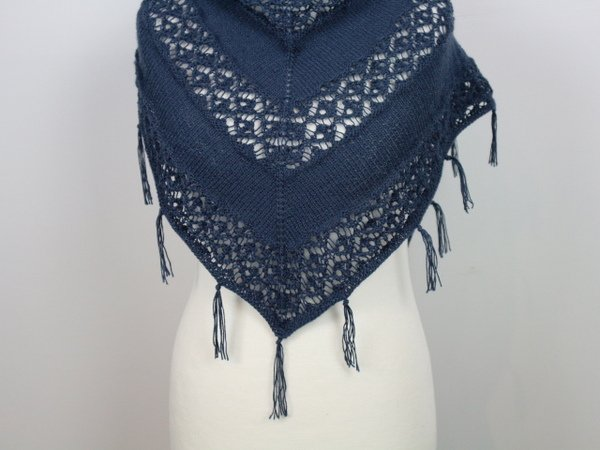 "Knitting pattern shawl ""Hippie"""