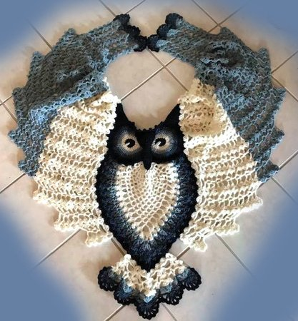 Petra Perle's Owl Shawl HEDWIG