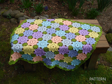 Pattern Patchwork Flowers Baby Blanket - PB-112