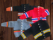 Boys crochet hockey sweater pattern