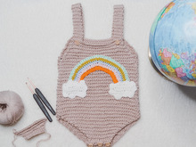 Baby Jumpsuit COLORS OF HOPE Crochet Video Tutorial and PDF