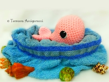 Häkelanleitung zarter Wal PDF Ternura Amigurumi English- Deutsch- Dutch