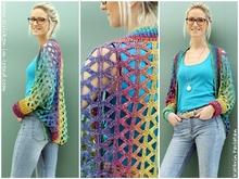 Crochet pattern for vest in all sizes | Shrug # 6 | 1-2-3 IDEEN # 2