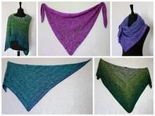 Knitting pattern shawl // wrap Walk The Line