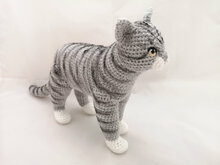 realistic cat - crochet pattern by NiggyArts