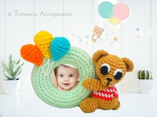 Crochet pattern Bear photo frame PDF Ternura Amigurumi English- Deutch- Dutch