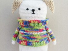 Amigurumi Dog in sweater