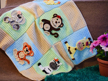 Jungle friends baby blanket pattern crochet