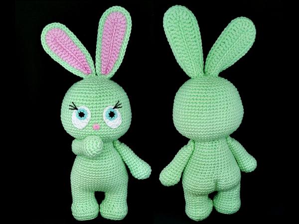 Pretty Bunny amigurumi in pink dress | Tier häkeln anleitung ... | 450x600