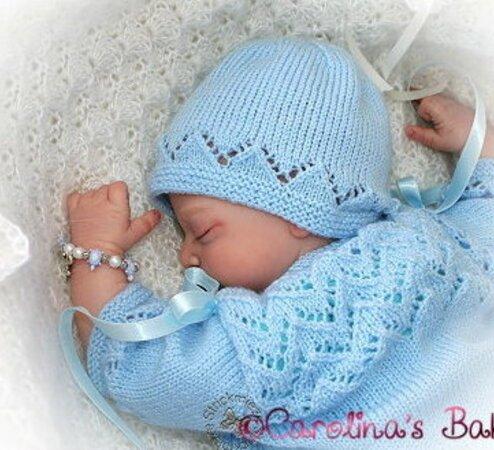 Babygarnituren 3-teilig für Babys Puppen Babys Gr ca.50//56 Reborn Puppen