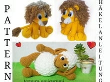 Crochet pattern of sheep + Crochet pattern of jack, the lion PDF Ternura Amigurumi Deutsch- dutch- English