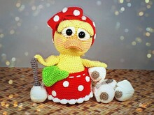 "Crochet Pattern ""Elvira"" The Toilet Duck"