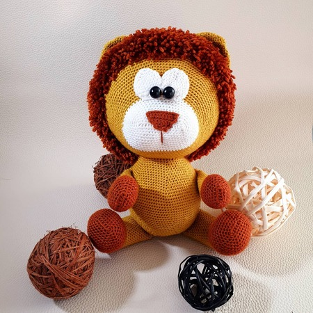 "Crochet pattern Lion ""Edgar"""