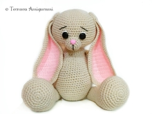 Crochet pattern Long eared rabbit PDF Ternura Amigurumi ENGLISH - DEUTSCH - DUTCH