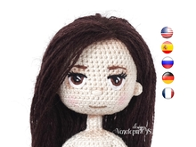 Pattern Embroidered eyes for crochet doll