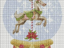 Horse carousel pattern for embroidery