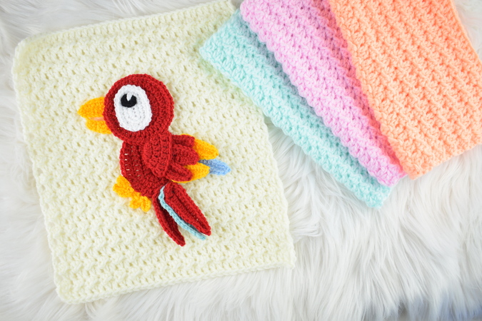 Crochet Baby Cocoon and Hat Set Free Pattern | EASYWOOL | 450x675
