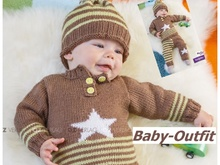 Baby-Outfit mit Sternchen