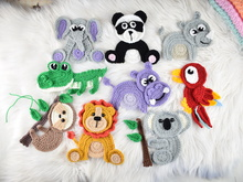 Safari jungle friends 9 applique set