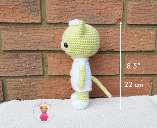 Nurse Kitty Cat, Amigurumi Crochet Pattern | 450x551