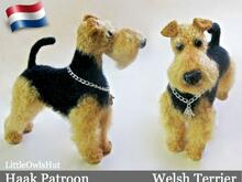 102NLY Welsh Terrier - Amigurumi Haakpatroon - PDF by Chirkova CP