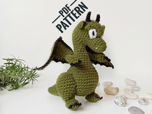 Crochet dragon amigurumi pattern