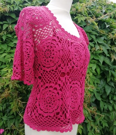 Crochet Top pattern Honeysuckle