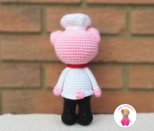 Chef Piggy Pig, Amigurumi Crochet Pattern