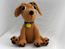 balu the golden retriever crochet pattern english