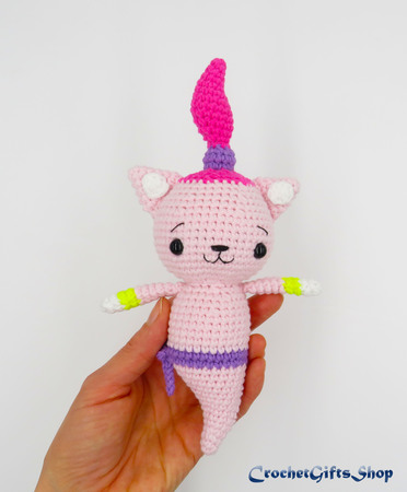 Cat Crochet Pattern Amigurumi Doll Download PDF – Firefly Crochet | 450x372