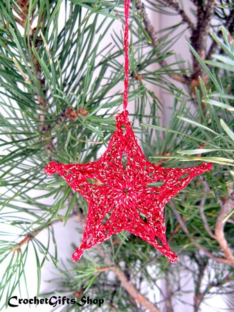 Pattern Christmas Star Ornaments (1)