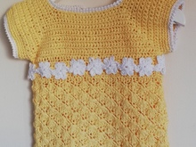 Crochet pattern baby dress Amy