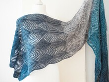 """Panta Rhei"" Lace Stole, knitting pattern, size customizable"