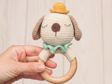 Crochet dog rattle pattern