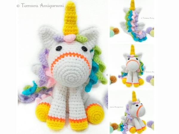 Shy unicorn amigurumi pattern - Amigurumi Today | 450x600