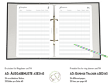 Expense Tracker planner inserts A5 dogs A5E2145