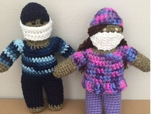 crochet nurses pattern, male & female