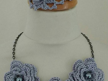 Crochet Necklace and cuff pattern