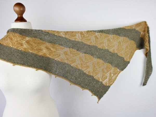 "Knitting pattern shawl ""Olivia"""