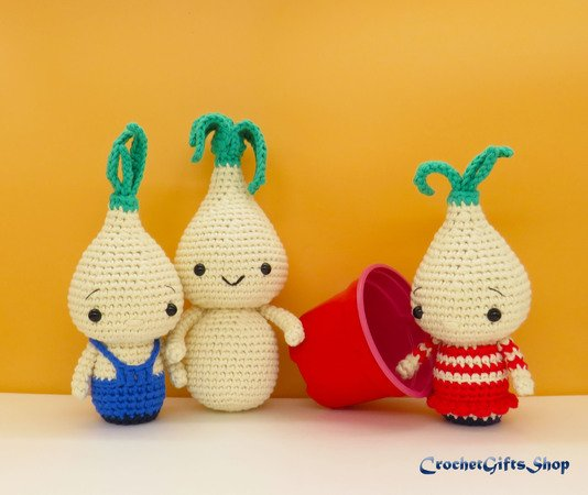 Hyacinth bulb - spring flower amigurumi pattern by Happy Coridon ... | 450x534
