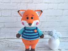 Crochet Pattern Sweater for Fox Felix